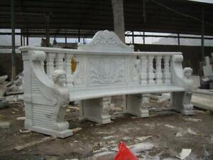 Phenomenal Details About Hand Carved Marble Figurative Estate Indoor Or Outdoor Garden Bench Ly046 Creativecarmelina Interior Chair Design Creativecarmelinacom