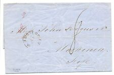 NEDERLAND 1858-09-16 BRIEF VAN AMSTERDAM NAAR =MARKINCH =  IN ENGLAND  F/VF