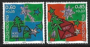 Luxembourg-2012-Noel-Celebrations-Hologramme-Stamp-Set-2-V-neuf-sans-charniere