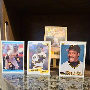 Barry Bonds (Lot of 4) Topps 1987 Rookie, Fleer 1990, Donruss & Upper Deck 1992