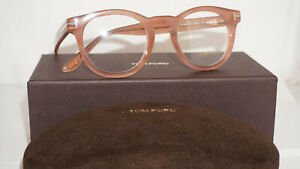 TOM-FORD-RX-Frame-Eyeglasses-New-Pink-Rose-Clear-TF5489-074-48-22-145