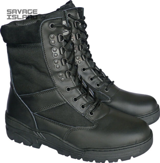 Army Patrol Leather Combat Boots
