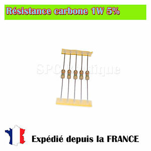 Lots-de-Resistance-carbone-1W-5-2-2-ohms