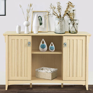Storage-Cabinet-Sideboard-Buffet-Cupboards-Console-Table-w-Shelves-Natural