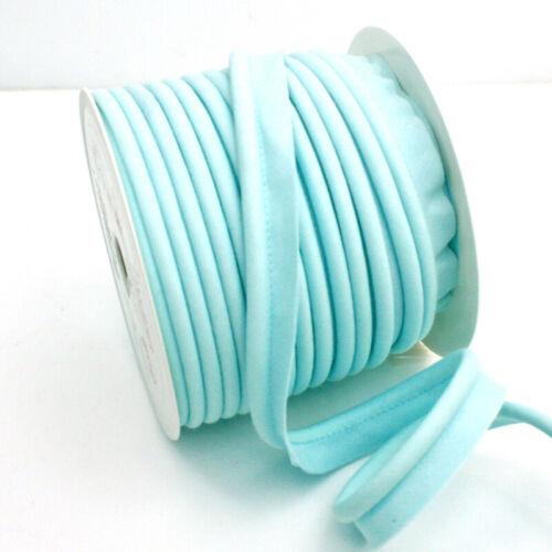 Pastel Aqia 16 Jumbo Bias Piping Plain Upholstery Flanged Insertion Large