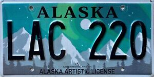Alaska Speciality Expired License American License Licence USA Number Plate