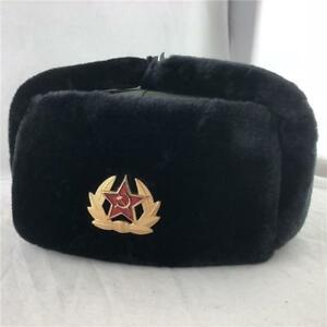 e8d170339427b Image is loading 2019-RUSSIAN-MILITARY-WINTER-USHANKA-HAT-WITH-SOVIET-