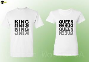 8b672302bf Couple T Shirts King QUEEN Matching Tees His and Hers New Design ...