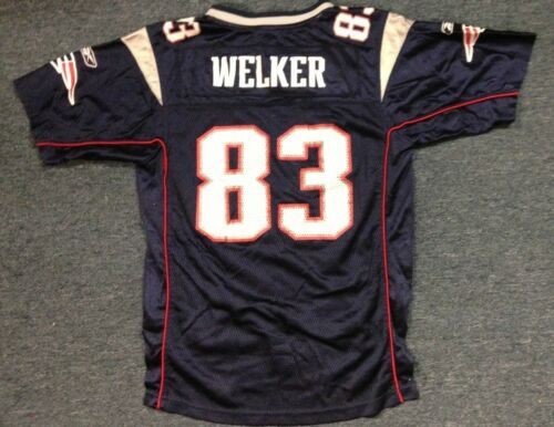 761af6e5c ... Lightly Worn Reebok Nfl New England Patriots Wes Welker Youth Jersey L  (14-16