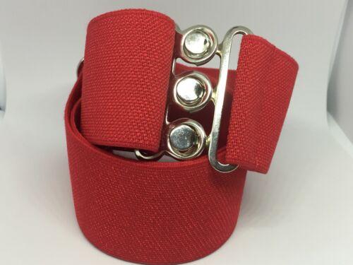 Red Nurses Retro 50s Ladies 50mm Adjustable Elasticated Elastic Snake Belt xl