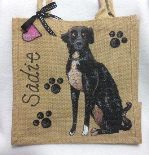 EtcHandbeschilderd Westie Handtas Gift hond Pug Jute Gepersonaliseerduw Handtas OTXZiPku