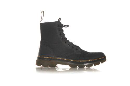 DR. MARTENS Black Tough Canvas Combs Boots 10 Men'