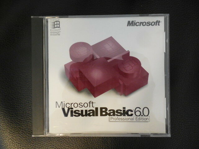 Microsoft Visual Basic 6.0 VB 6 Programming  with Compiler runs in Windows 10