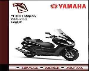 yamaha yp400t yp400 majesty 2005 2007 workshop service repair rh ebay co uk