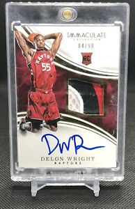 2015-16-Immaculate-3-Color-Rookie-Patch-Auto-Delon-Wright-RPA-99