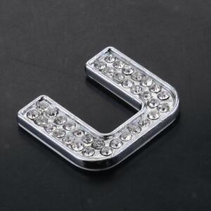 3d Letter Diy.Details About Rhinestone Diamante Diy Alphabet Letter U 3d Car Badge Sticker Decal Emblem