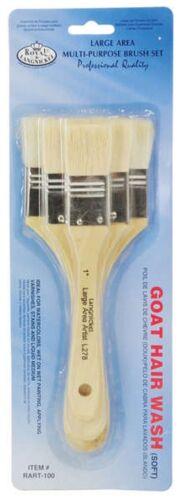 Royal Langnickel Artists Goat Hair Paint Brush Set of 3 Large Area Wash RART-100