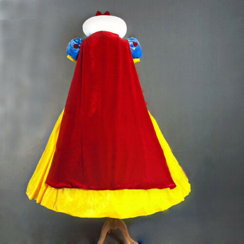 Deluxe Snow White Princess Costume Fairy Tale Fancy Dress Outfit
