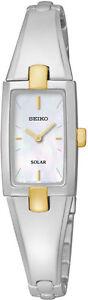Seiko Solar SUP218 SUP218P9 Ladies Watch two-tone Bracelet RRP $425.00
