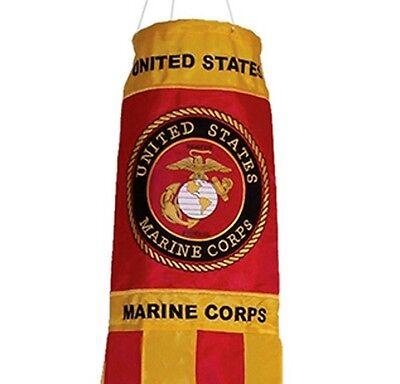 Wind Sock US Marine Corps Outdoor Garden Flag Decor Spinner USMC Military Gift