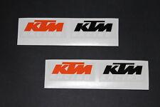 KTM Aufkleber Sticker Bapperl Decal 2 Stück Racing Exc Cross Moto Logo org17