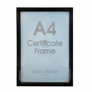 NEW A4 CERTIFICATE PHOTO PICTURE FRAMES GOLD SILVER BLACK POSTER FRAMING