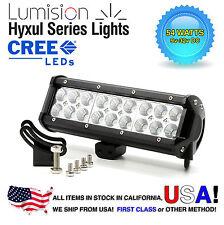 "Lumision CREE 54W 9"" Flood High Intensity LED Light Bar Truck RV SUV Off Road"