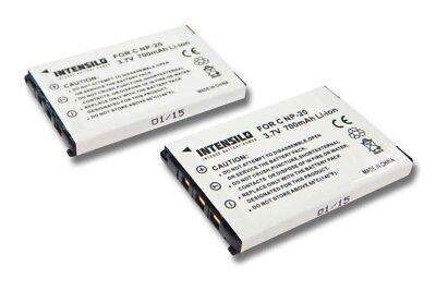 BATTERIA Intensilo 700mAh per CASIO NP-20 NP20 EXILIM EX-S600 S770 Z70