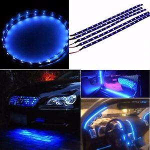 6pcs-12-034-30CM-Blue-Car-Motor-Truck-Flexible-LED-Strip-Light-Bar-Waterproof-12V