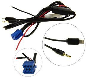 KFZ-Auto-Radio-AUX-Adapter-Kabel-Mini-ISO-8pol-Stecker-fuer-VW-Delta
