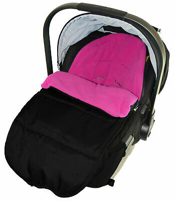 Car Seat Footmuff Cosy Toes Compatible with Bebecar Easy Maxi Pink Rose