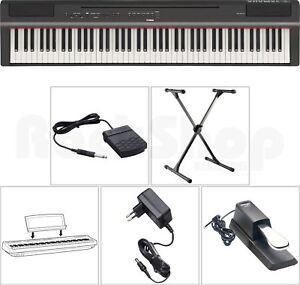 Yamaha-P-125-B-Digital-E-Piano-Klavier-SET-mit-X-Stativ-Sustain-Pedal-NT-NEU