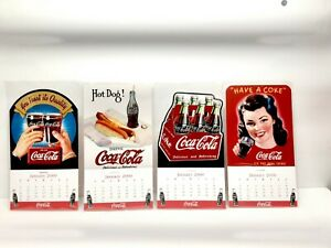 Vintage Coca Cola 2000 Mini Magnetic Calendars Lot Of 4 Drink coke.