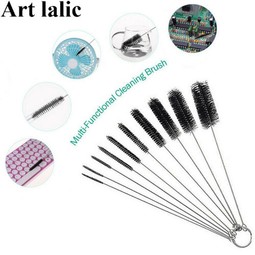 10pcs Nylon Tube Brushes Pipe Cleaning tool for Straws Glasses Keyboards Jewelry