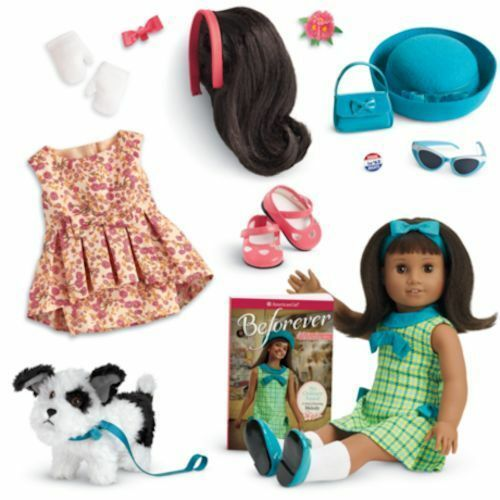 Muñeca American Girl melodía & Libro + perro Bo + conjuntos extra tres podemos enviar ahora tan lindo