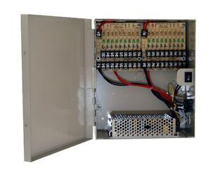 18 port fused output, 12v dc,18 amp,ul list cctv distributed powerimage is loading 18 port fused output 12v dc 18 amp