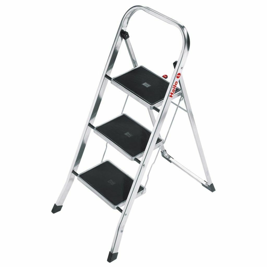 Hailo Escalera Plegable 105 cm Peldaño Escalón Escalinata Taburete Banco Apoyo