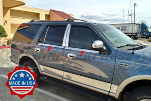 1997-2002-Ford-Expedition-4Pc-Window-Sill-Trim-Accent-Stainless-Steel-Overlay
