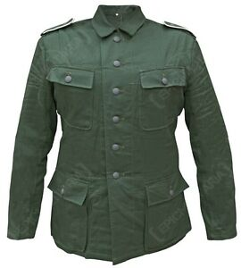 WWII German M44 Heer summer HBT Officer field cap reed green size L