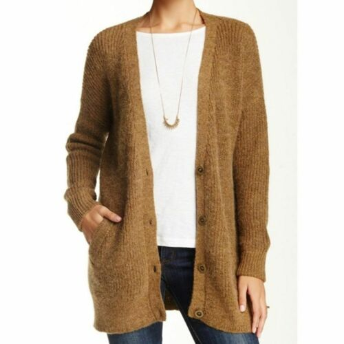 Free People XS Cloudy Day Oversized Camel Cardigan