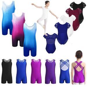 Girls-Gymnastics-Ballet-Dance-Leotard-Kids-Sleeveless-Unitard-Jumpsuits-Bodysuit