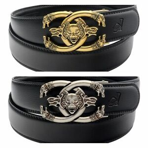 Mens-Womens-Casual-Luxury-Wolf-Automatic-Buckle-Ratchet-Belt-For-Men-Gift-Q19