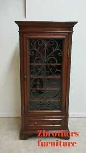 Ethan Allen Tuscany Wine Cabinet Liquor Cabinet Wrought Iron Display Bar B