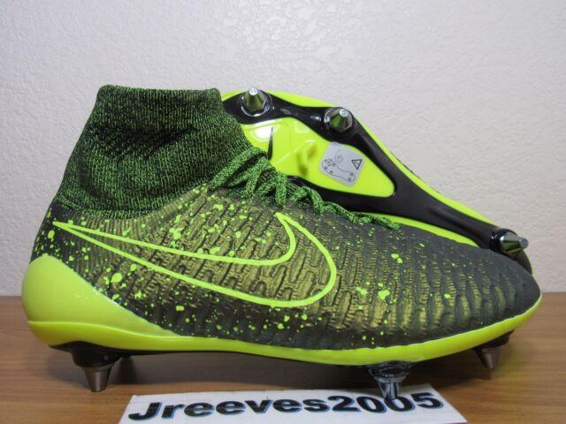 dc4ab386161d Nike Magista Obra SG Pro Soccer Cleats Sz 6 100% Auth DARK CITRON ACC 649234