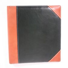 Exposures Leather Suede Green Brown 3 Ring Binder Photo Docs Organizer