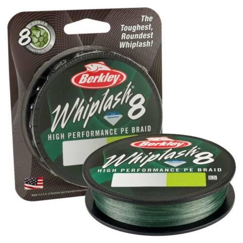 0,12 EUR//m BERKLEY Whiplash 8 0,14mm 19,2kg 300m Green