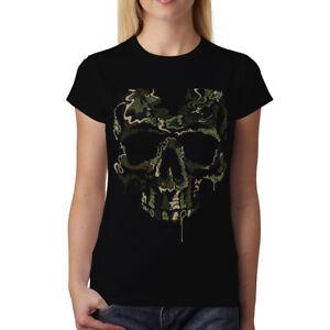 3ad9c4b7ede15 ... Soldat-Crane-Militaire-Femme-T-shirt-M-3XL