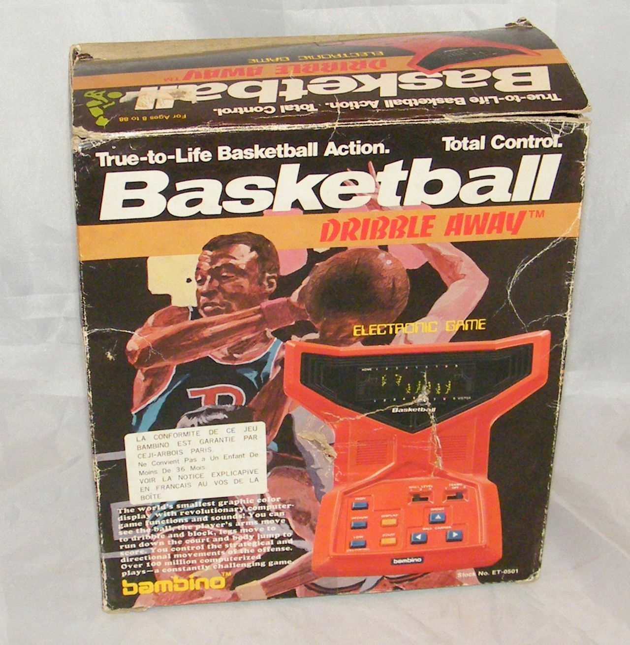 bambino basketball dribble away-electronic game lsi tabletop 1979
