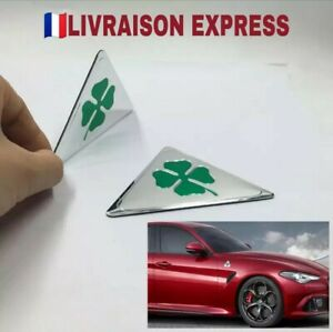 X2-Sticker-Alfa-Romeo-Trefle-quadrifoglio-verde-auto-gt-brera-147-159
