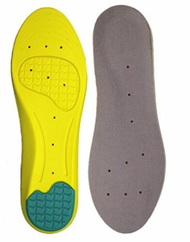 Mens Womens Memory Foam Orthopedic Arch Block Odor Gel Shoe Insole Support New